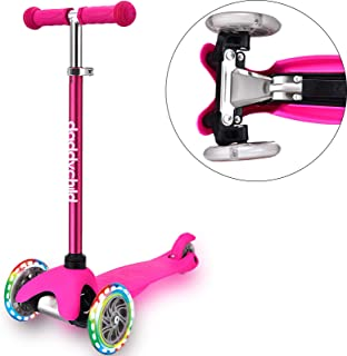 DADDYCHILD 3 Wheel Scooters for Kids, Kick Scooter for Toddlers 2-6 Years Old, Boys and Girls Scooter with Light Up Wheel...