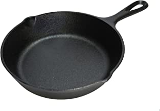 Lodge Pre-Seasoned Cast Iron Round Skillet/Frying Pan, Black, 16.5 cm/ 6.5 inch
