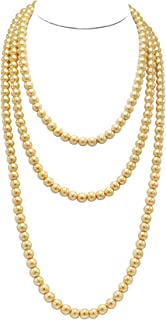Best long gold pearl necklace Reviews