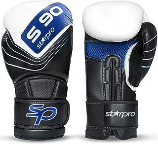 Starpro S90 rękawice bokserskie chroniące nadgarstki | ukryte skórzane Maya | czarne i niebieskie | do profesjonalnego tre...