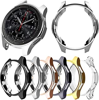 [6-Pack] Protector Case Compatible with Samsung Galaxy Watch 46mm and Gear S3 Frontier Classic,Soft TPU Plated Protective Cover Ultra Thin Bumper Shell Smartwatch Accessories (6 Colors, 46MM)