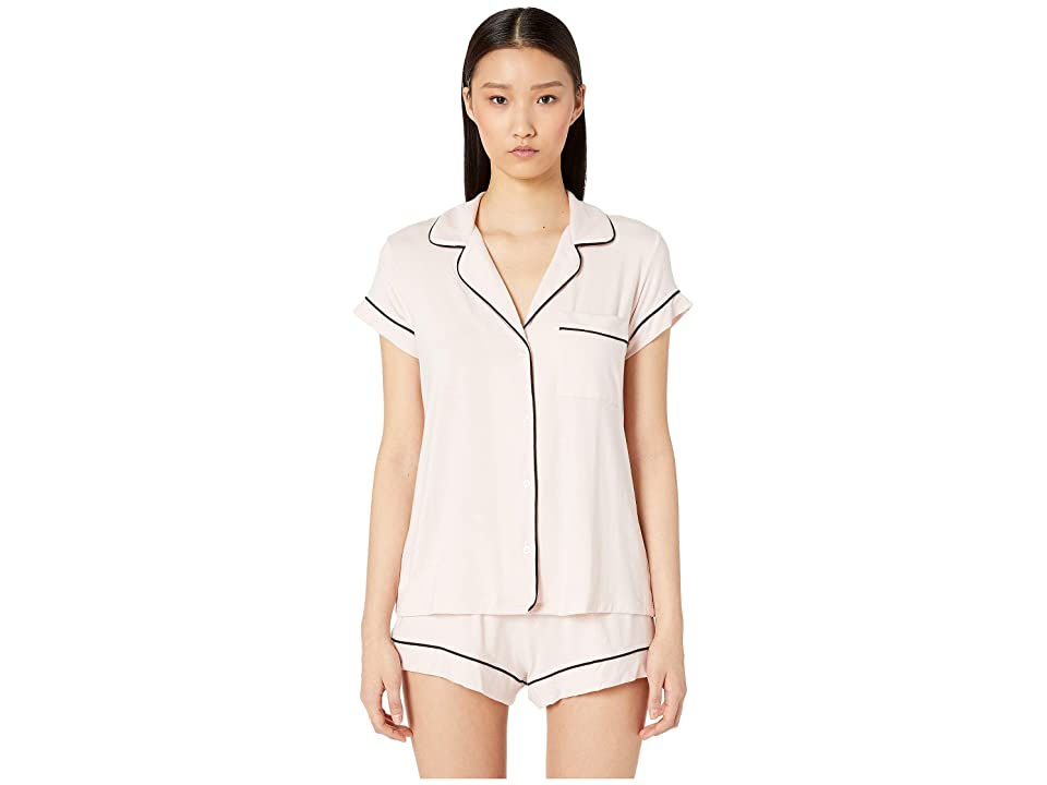 Eberjey Gisele Basics Short PJ Set (Sorbet/Black) Women