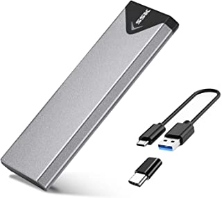SSK Aluminium USB 3.1 till M.2 NGFF SSD-kapslingsadapter, extern SATA-baserad M.2 Solid State Drive-kapsling (SATA-baserad)
