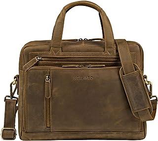 """STILORD Avery"""" Businesstasche Leder Damen Herren Umhängetasche Vintage Aktentasche Arbeitstasche 13,3 Zoll Laptoptasche für MacBooks"""