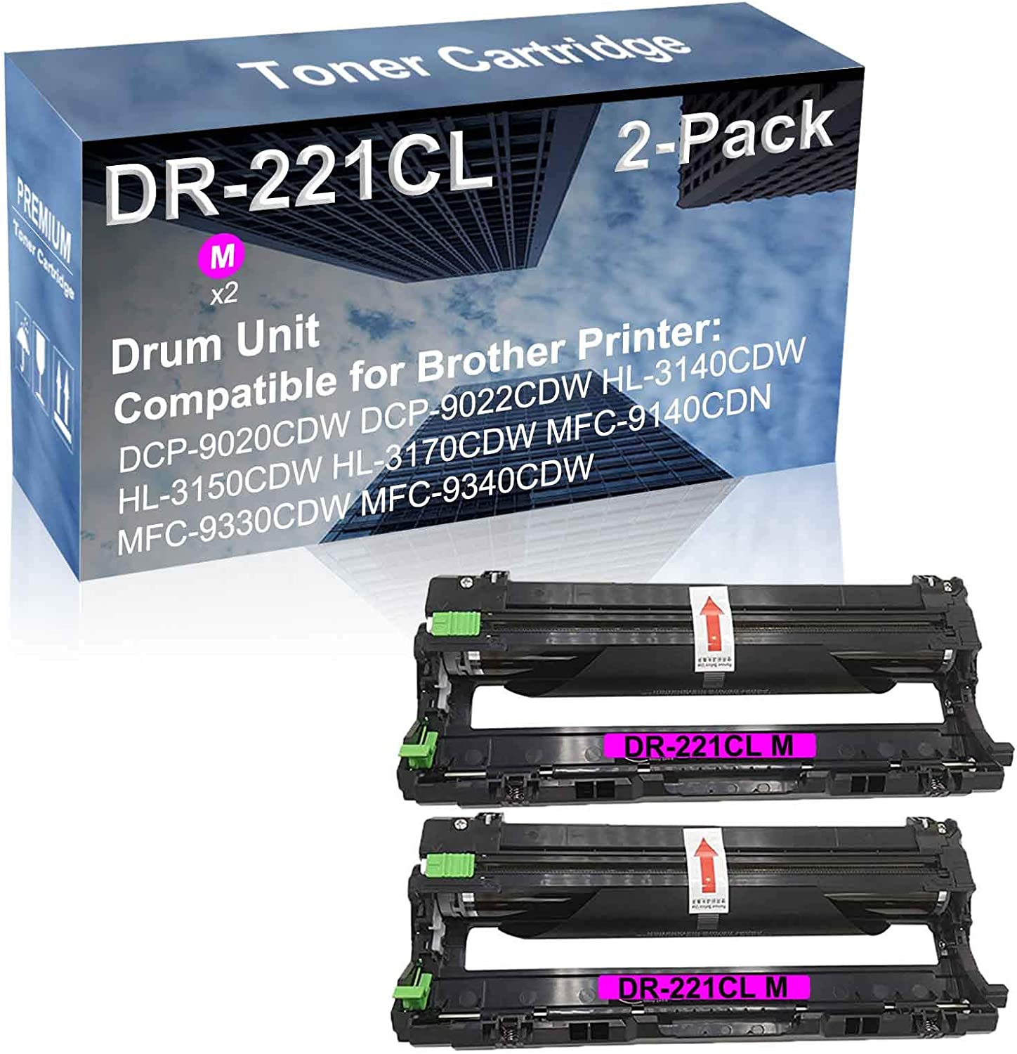 2-Pack Magenta Compatible Superior High Capacity DR-221CL OFFicial mail order Drum DR221