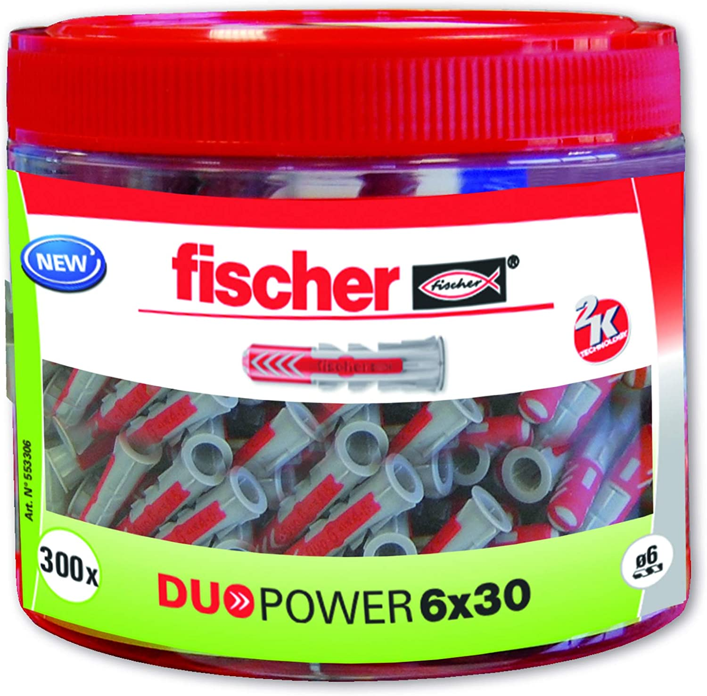 6 x 30 Fischer 553306 Nylon Dowel Grey//Red