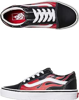 Vans Old Skool (Moto Flame) Black/Racing RED Youth