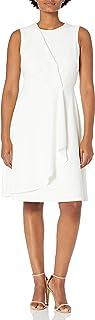 Calvin Klein Women's Sleeveless Dress with Side Pleated Ruffle