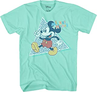 6b162a979 FREE Shipping on eligible orders. Disney Mickey Mouse 90s Nostalgia Classic  Retro Vintage Disneyland World Tee Funny Humor Adult Mens Graphic