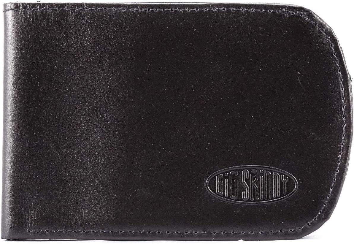 Big Skinny Men's Curve Leather Bi-Fold Recommendation Oakland Mall Up Holds to Slim Wallet
