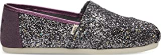 TOMS Womens Alpargata Pewter Party Glitter (Vegan) 5 ...