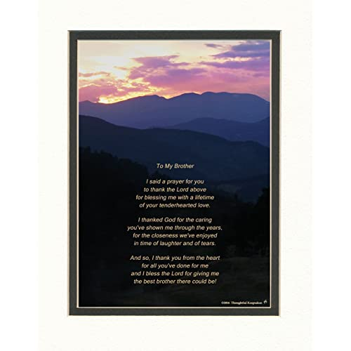 Brother Gift With Thank You Prayer For Best Poem Mts Sunset Photo