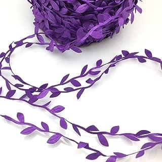 FQTANJU 10 Yards Leaf Ribbon, Purple