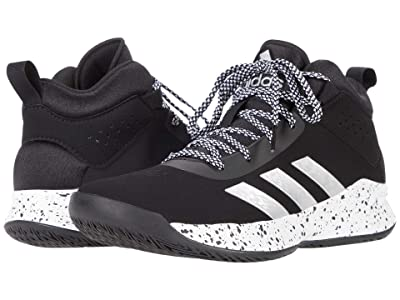 adidas Kids Cross Em Up 5 Basketball (Little Kid/Big Kid) (Core Black/Silver Metallic/Footwear White) Kids Shoes