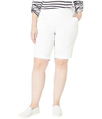 Jag Jeans Plus Size Plus Size Gracie Pull-On Bermuda Shorts (White) Women