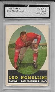 1958 Topps Football Leo Nomellini Card # 89 FGS 4 Vg-Ex Condition
