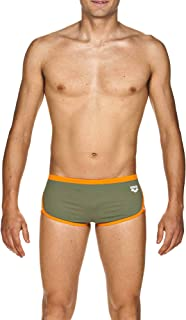 ARENA Men's Team Stripe Low Waist MaxLife Swim Short Swimsuit
