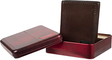 Levi's Men's Trifold Wallet-Sleek and Slim Includes Id Window and Credit Card Holder
