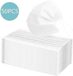 HEMENG 50PCS Einweg 3-lagig Staubschutz Anti Staub, Pollen und Partikel