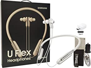 Samsung U Flex Bluetooth Wireless in-Ear Headphones HD Premium Sound and Mic - with Car-Charger 4FT USB Kit (US Model - Retail Packing)