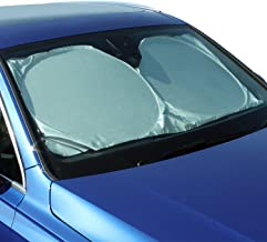 CampTeck U6834 Foldable Reflective Car Windscreen Sunshade Reflector UV Rays Windshield Sun Shade Sun Protector Universal Fit (148cmx70cm) with Carrying Pouch