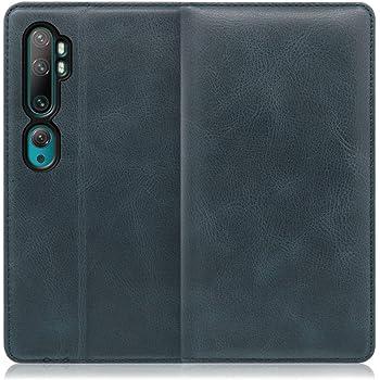 LOOF Simplle Xiaomi Mi Note 10 / Mi Note 10 Pro / M1910F4G / M1910F4S ケース 手帳型 カバー 本革 磁石なし ベルト無し カード収納 カードポケット 牛革 高級 スタンド機能 手帳型ケース スマホケース シンプル (テールグリーン)