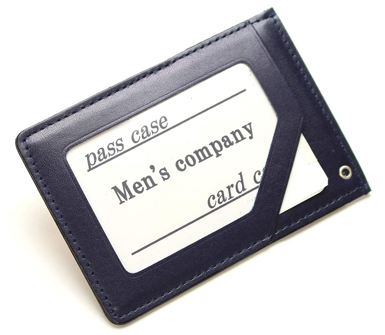 [メンズ カンパニー]Men's company 定期入れ 2面タイプ 単パスケース 日本製 本革