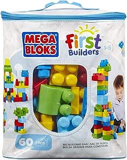 Mega Bloks 8416 First Builders Big Building Bag 60 Pieces, Multi