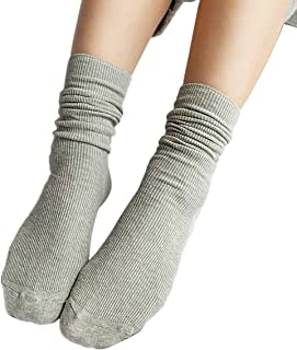 iSpchen, Butterme 3?Pares Mujer Super Suave Lana Calcetines Vintage Solid Color Algod¨®n Invierno C¨²mulos Medias Calcetines Botas Calcetines Medias Calcetines Gris Gris Claro Talla ¨²nica