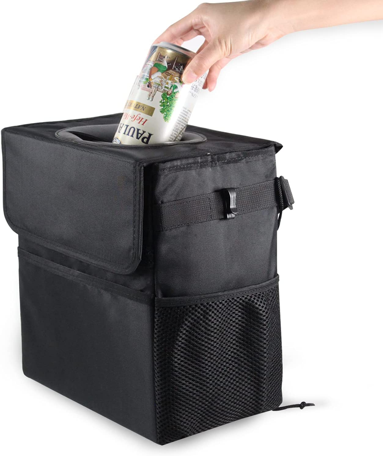 Mymazn 3.2 Many popular brands Gallon Car Trash Can and 67% OFF of fixed price Pockets with Lid 202 Storage