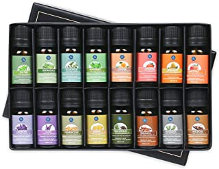 Lagunamoon Essential Oils Gift Set of 16 Pure Essential Oils Gift Set for Diffuser, Humidifier, Massage, Aromatherapy, Skin & Hair Care