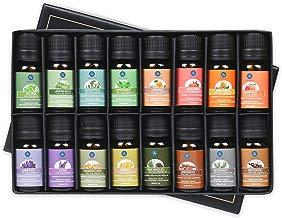 Lagunamoon Aceites Esenciales, Top 16 Set de Regalo de Aceites de Aromaterapia, Lavanda, Eucalipto, Hierba de Limón, Romero, Menta, Arból de Té, Aceites Esenciales para Humidificador, 100% Puros