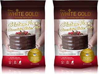 Extra White Gold Gluten Free Chocolate Cake Mix – For Baking Cakes Cupcakes Desserts – [Kosher] [Gluten Free] [Vegan] [Soy Free] [Nut Free] [Dairy Free] – 15.9 Ounces (2 pack)