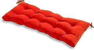 red indoor bench
