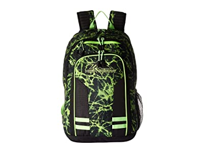 High Sierra Blaise Backpack (Lime Fire/Black/Lime) Backpack Bags
