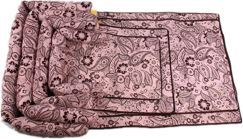 Pet Mattress Dog mat Rectangular Four Seasons Universal Dog pad MultiFunction Removable Washable pet pad Teddy golden Retriever Dog,Pink,S