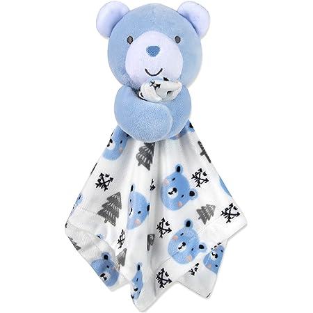 Stuffed Plush Toy Travel Blankie Gift for Boy or Girl Penguin Fleece Blanket Buddy for Kids Animal Snuggle Lovey for Baby or Child/'s Room