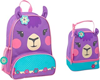 Stephen Joseph Girls Llama Backpack and Lunch Pal for Kids