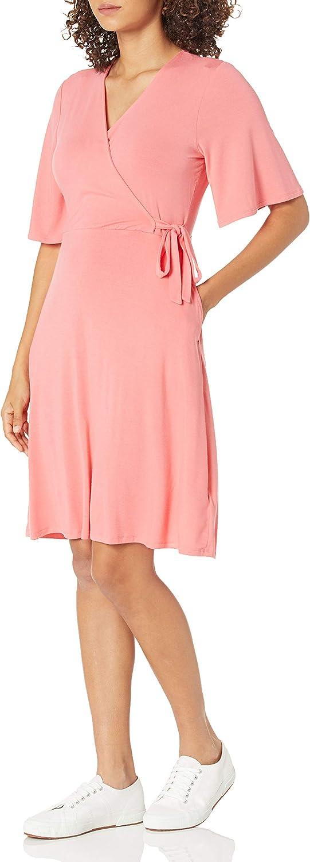 Amazon Essentials Women's Standard Kimono Sleeve Wrap Dress