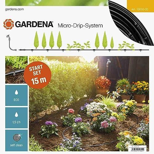 GARDENA Kit d'arrosage goutte-à-goutte pour rangées de plantes S: système d'arrosage Micro-Drip pour un arrosage en ...
