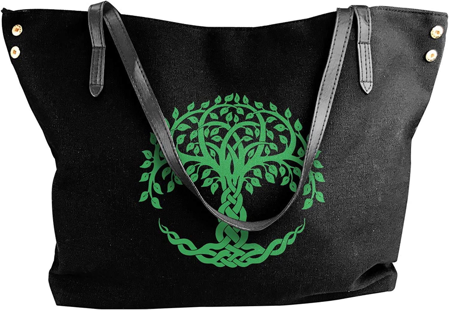 Tree Of Life Women'S Leisure Canvas Handbag For Shopping Shoulder Tote