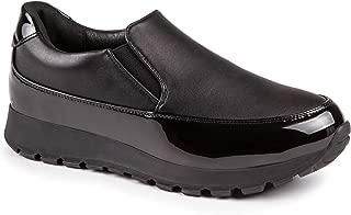 Baldi Women's Amiantos Black/Red/White Faux Leather Platform Ankle High Slipon Sporty Walking City Sneakers