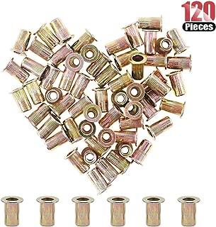 Hilitchi 120 Pcs #10-24 UNC Rivet Nuts Threaded Insert Nut (#10-24 UNC Rivnut)