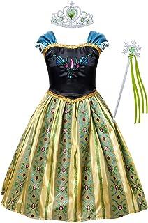 فستان AmzBarley للأميرة والحفلات التنكرية وأعياد الميلاد وحفلات الهالوين مع الإكسسوارات