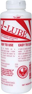 J LUBE Powder Mixes with Water One Bottle Makes 6-8 Gallons of Lubricant 10 oz.
