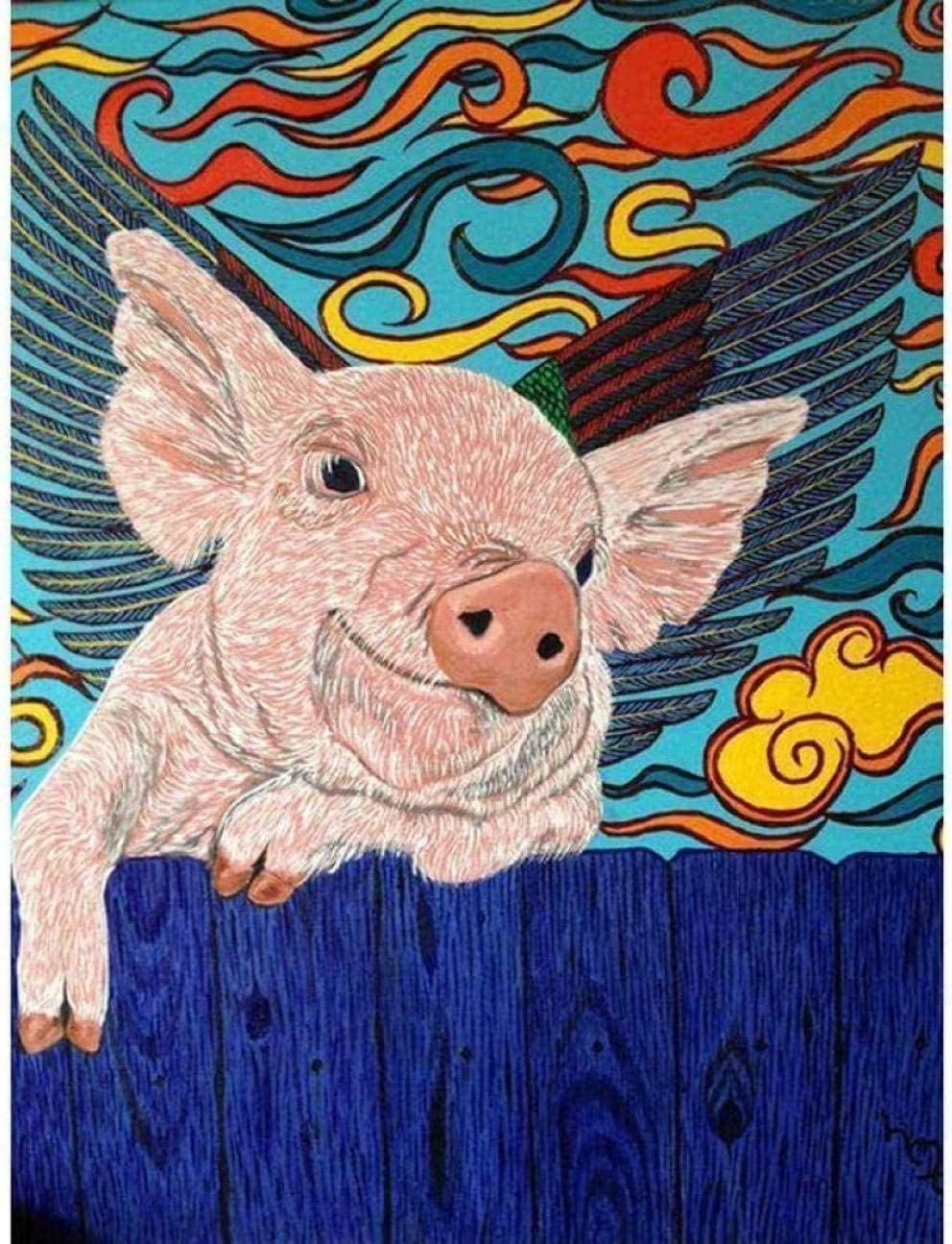 YHX926 Cross Stitch Kits Max 51% OFF for Beginner Cute Pig Adults Stamped Cr 2021 model