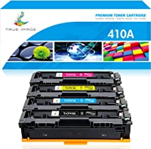 True Image Compatible Toner Cartridge Replacement for HP 410A CF410A CF411A CF412A CF413A Laserjet Pro M477fnw M477fdw M477fdn M452dw M452dn M452nw M477 M452 (Black Cyan Yellow Magenta, 4-Pack)