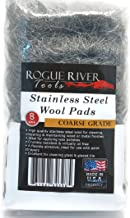 Stainless Steel Wool 8 Pad Pack (Coarse) Oil Free Manufacturing - Made in USA!
