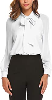 Best blouses with bows at neck Reviews