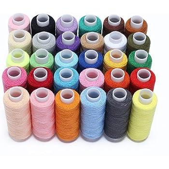 30 colores Bobina de surtido de hilo de coser 250 yardas Cada hilo ...